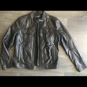 100% Rivet Black Leather Jacket